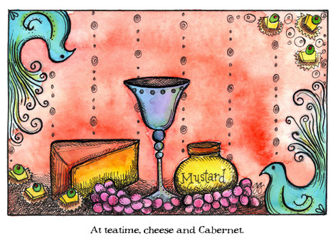 At teatime, cheese and Cabernet